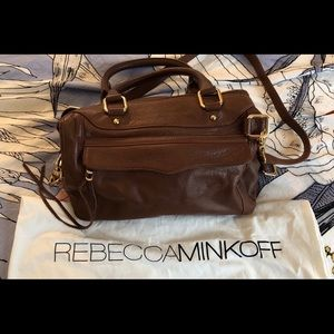 Rebecca Minkoff Genuine Brown Leather Hobo Bag